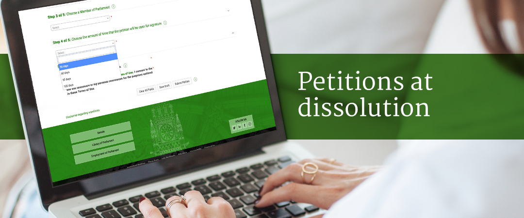 Petitions at dissolution