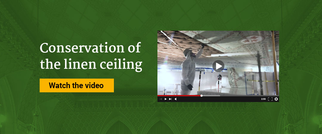 The conservation of the linen ceiling - The conservation of the linen ceiling as part of the rehabilitation work in Centre Block