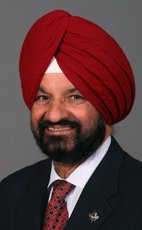 Photo - The Honourable Gurbax S. Malhi - Click to open the Member of Parliament profile