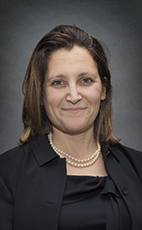 Photo - The Honourable Chrystia Freeland - Click to open the Member of Parliament profile