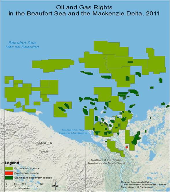 Oil and Gas Disposition in the Beaufort Sea and Mackenzie Delta, 2011