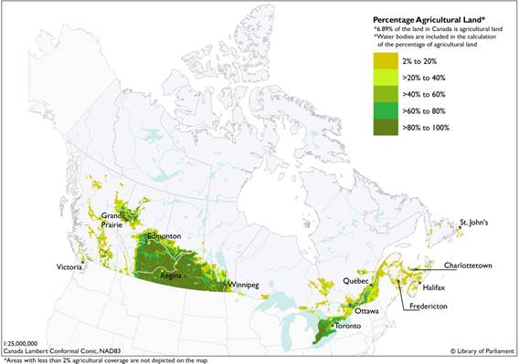 Water Bodies Of Canada Map.Committee Report No 11 Agri 42 1 House Of Commons Of Canada